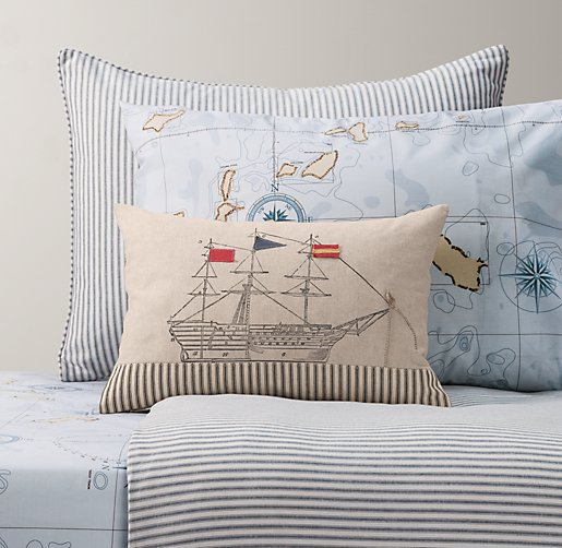 Henley Stripe & Italian Nautical Map Bedding Collection