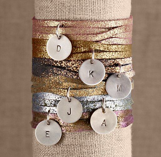 Petite Leather Personalized Charm Bracelet/Necklace