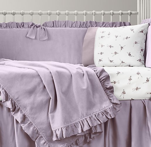 Washed Velvet & European Vintage Ballerina Nursery Bedding Collection