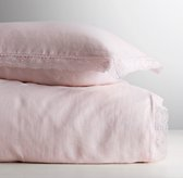 Garment-Dyed Crochet Linen Duvet Cover