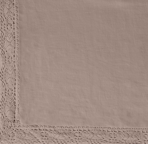 Garment-Dyed Crochet Linen Bedding Swatch