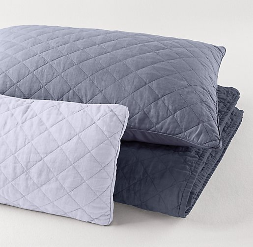 Garment-Dyed Diamond Quilted Sham