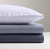 Garment-Dyed Percale Fitted Sheet