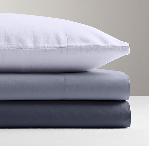 Garment-Dyed Percale Flat Sheet