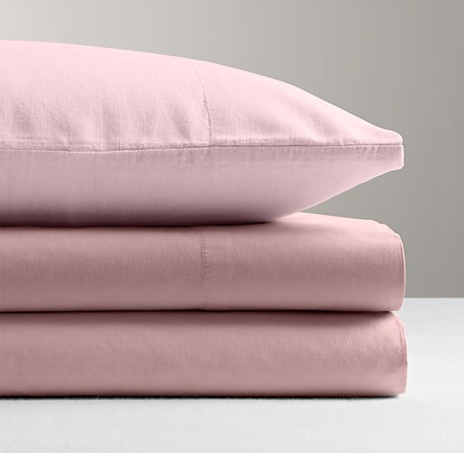 Garment-Dyed Percale Crib Fitted Sheet