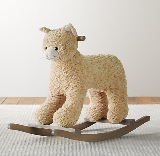 Textured Plush Animal Rocker