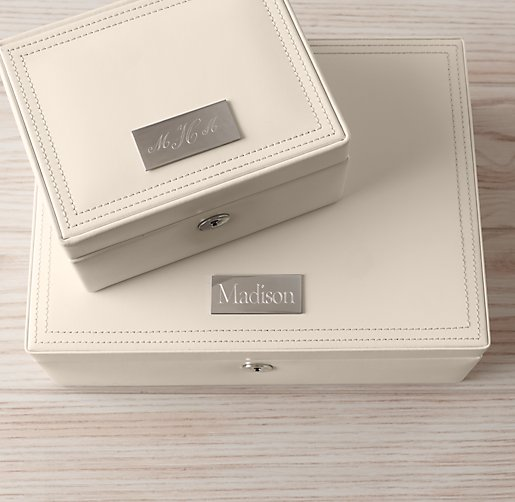 Personalized Heirloom Leather Jewelry Box