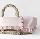 Washed Velvet Moses Basket Bedding & Ash Basket Set