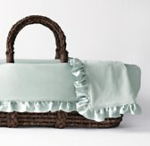 Washed Velvet Moses Basket Bedding & Espresso Basket Set