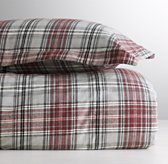 European Cabin Plaid Flannel Duvet Cover
