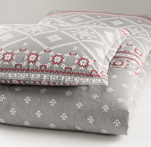 European Fair Isle Flannel Duvet Cover