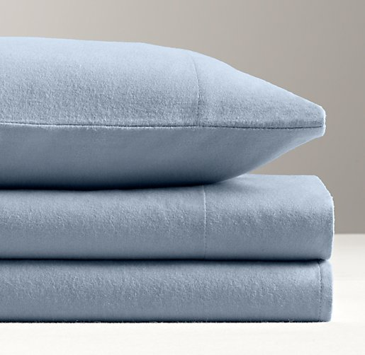 European Solid Flannel Sheet Set