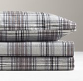 European Cabin Plaid Flannel Sheet Set