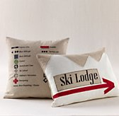 Appliqué Ski Decorative Pillow Cover