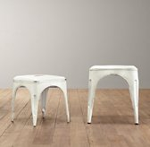 Vintage Steel Play Stool Set of 2