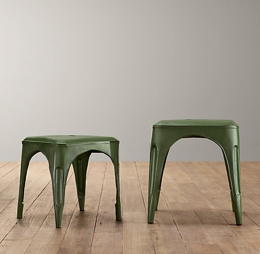 Vintage Steel Play Stool