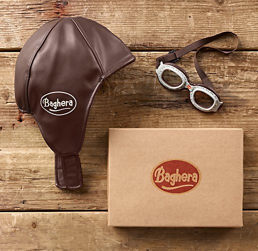 Vintage Racing Cap & Goggles