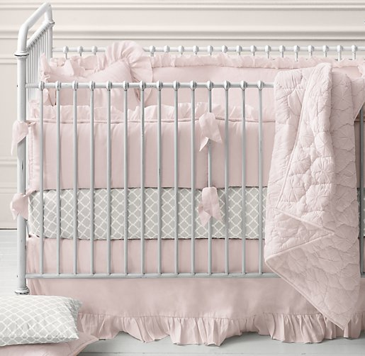 Frayed Ruffle & European Trellis Nursery Bedding Collection