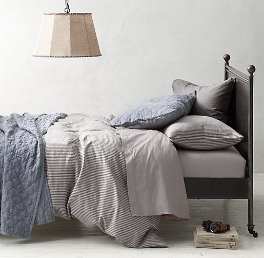 Garment-Dyed Ticking Stripe & Percale Bedding Collection