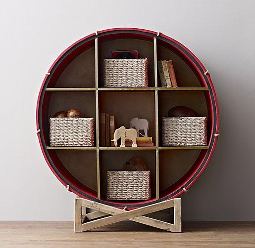 19th C. British Drum Bookcase