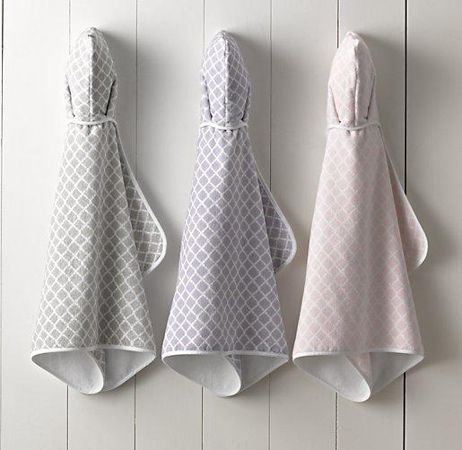 Trellis Turkish Hooded Towel Baby