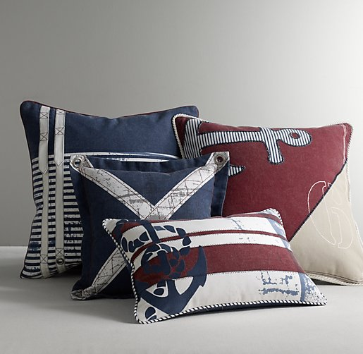 Nautical Decorative Pillow Cover & Insert