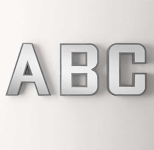 extra large mirrored letter With extra large mirrored letters