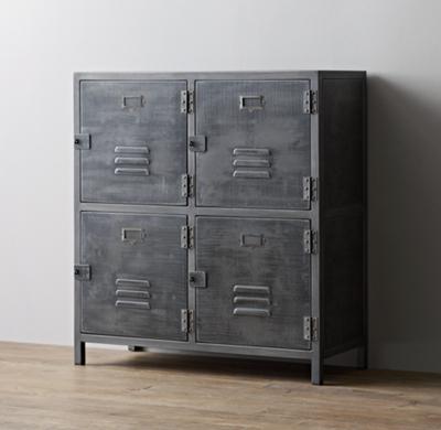 Vintage Locker 4 Door Cabinet