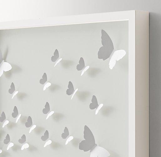 Hand Folded Paper Butterfly Art