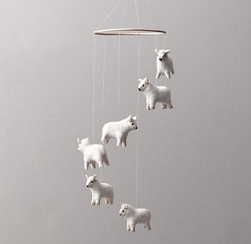 Wool Felt Sheep Mobile