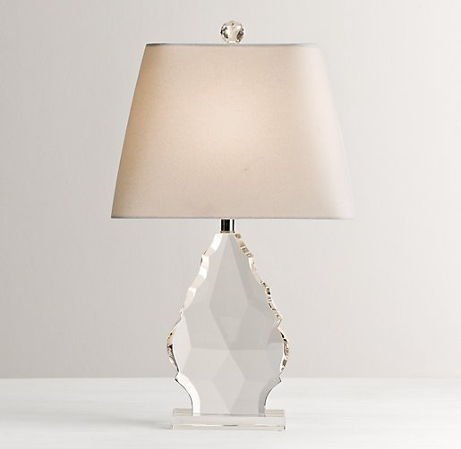 grand faceted crystal table lamp base. Black Bedroom Furniture Sets. Home Design Ideas