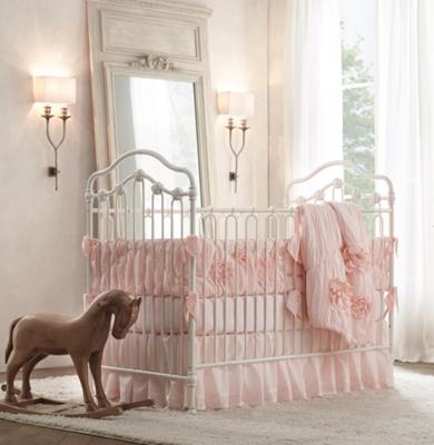 Washed Appliqu 233 D Fleur Toddler Quilt
