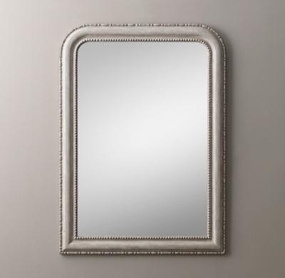 19th C Louis Philippe Dresser Mirror Vintage Grey