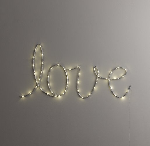 Starry Light Wall D 233 Cor Quot Love Quot