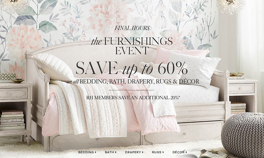 Furnishings Event - Save up to 60%