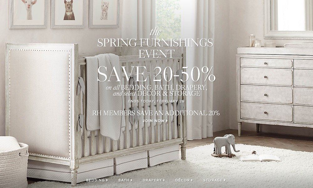 spring furnishings sale