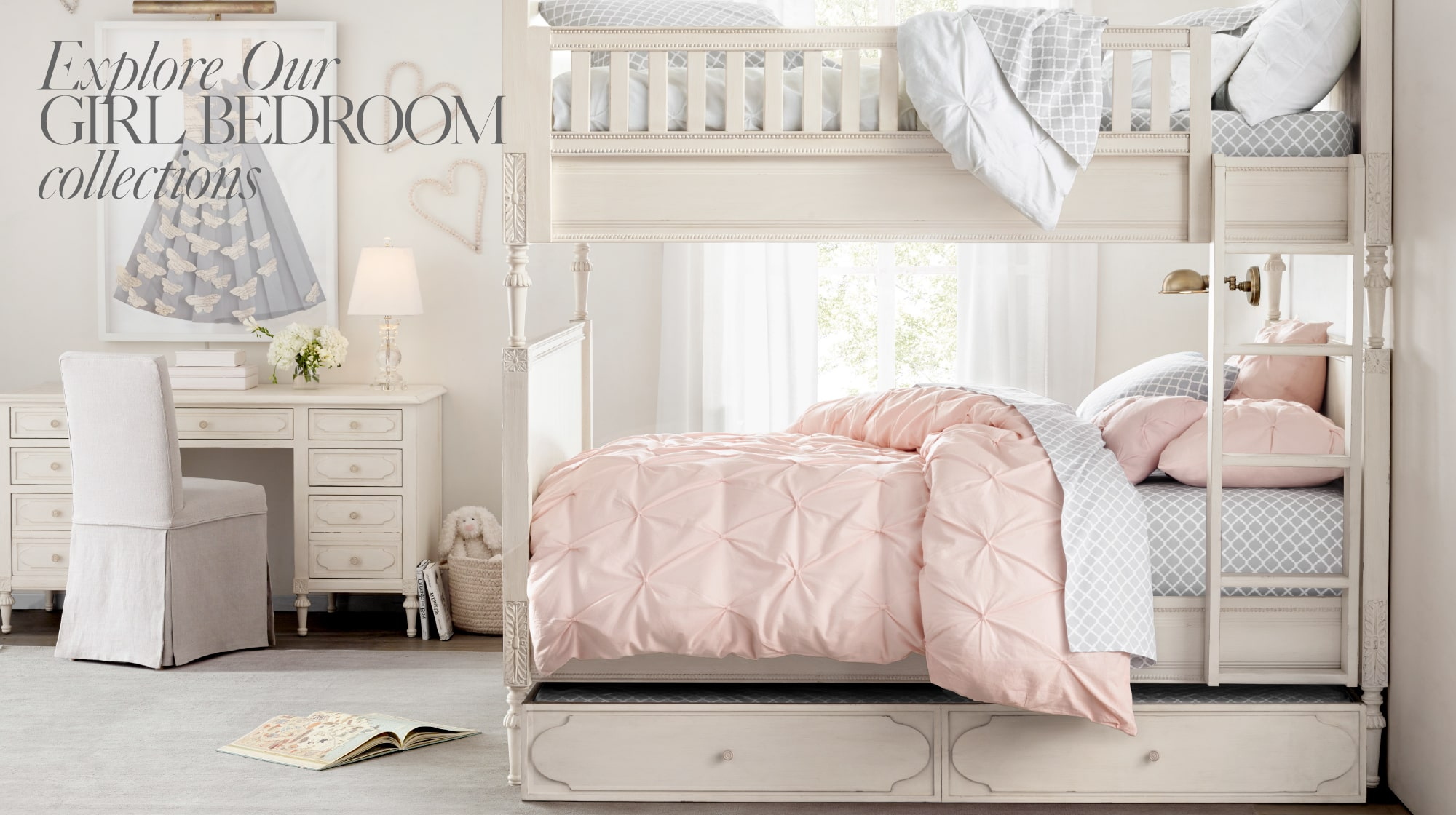 10c51ec3023 ... Nursery Collections · RH Baby and Child - Explore Our Girl Bedroom  Collections.