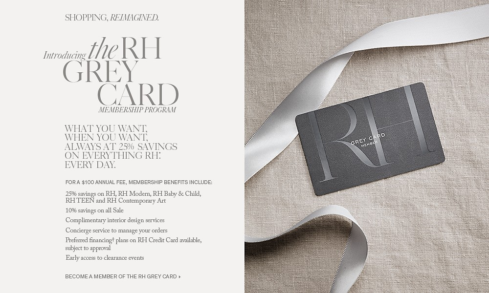 Introducing the RH Grey Card