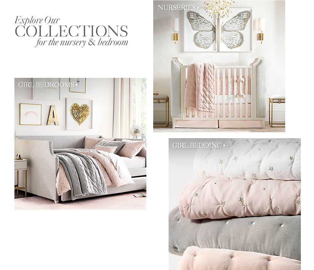 Explore our collections for the nursery and bedroom