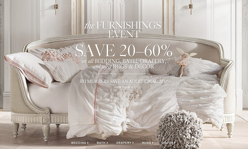 The Furnishings Event. Save 20-60%