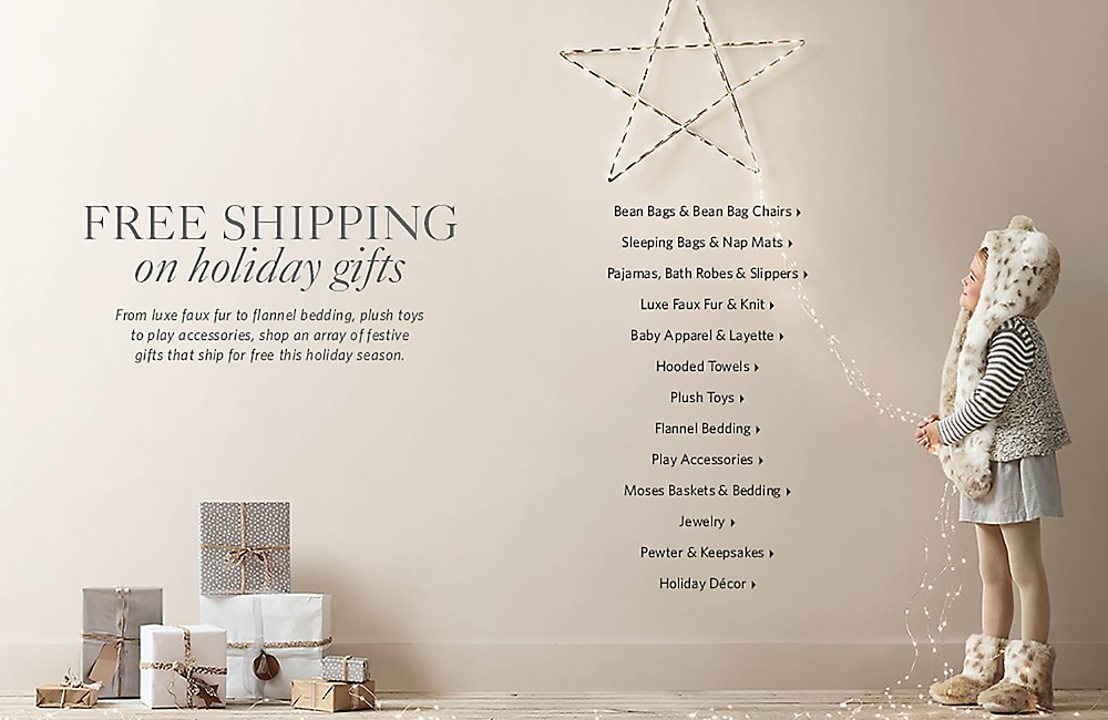 free shipping on holiday gifts