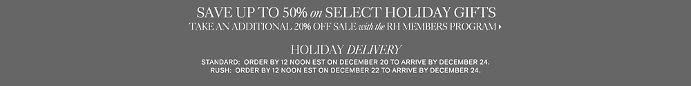 save up to 50% on select holiday gifts