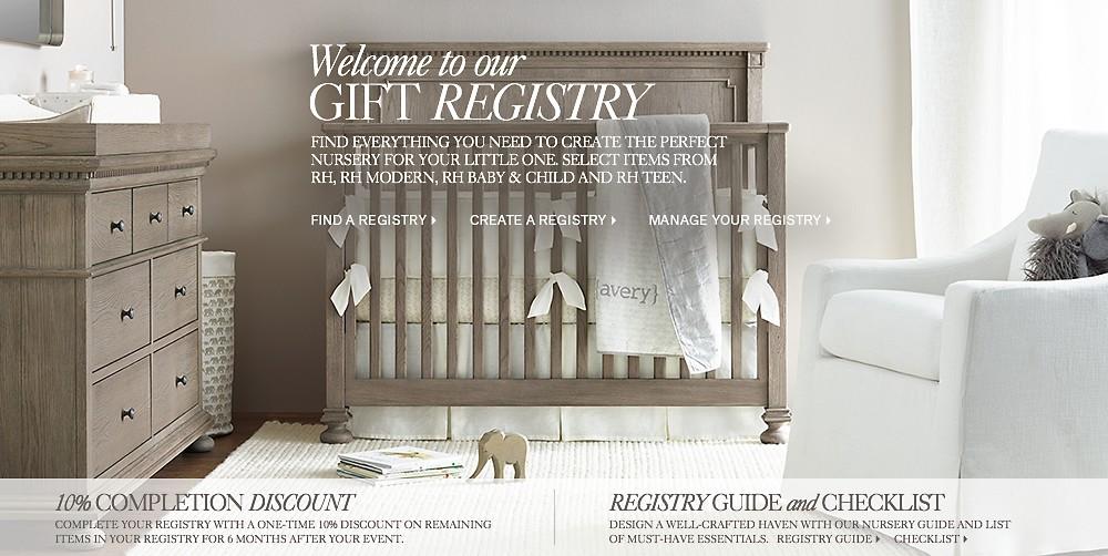 Gift Registry Home Rh Baby Amp Child