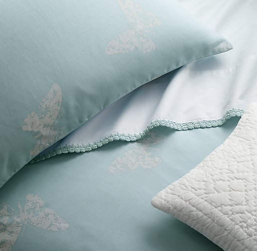 Stamped Butterfly Amp Vintage Crochet Bedding Collection