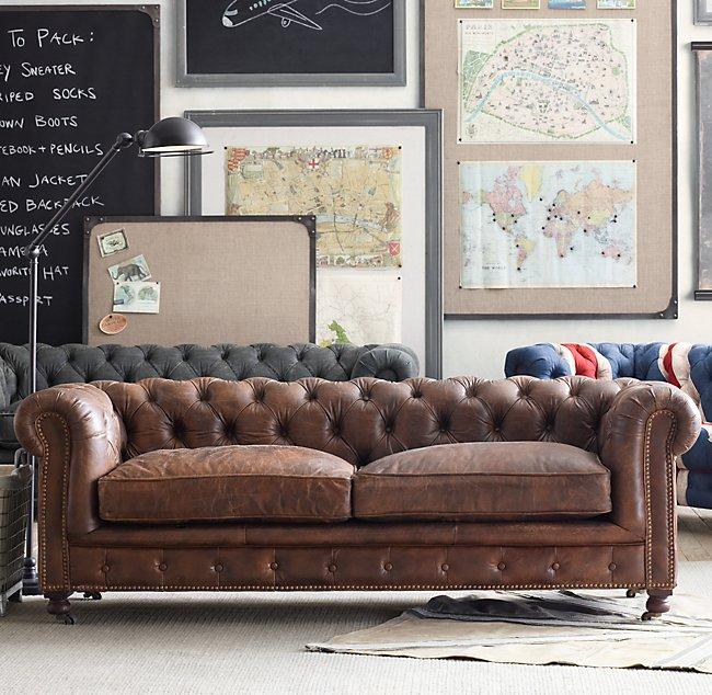 Mini Kensington Leather Sofa