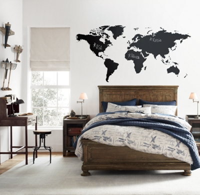 World map chalkboard decal gumiabroncs Gallery