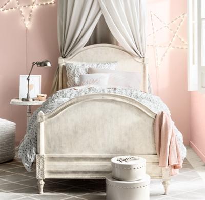 Bellina Arched Panel Bed - Vintage Grey