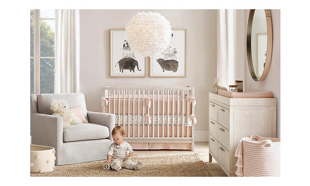 Keegan Panel Nursery Mist Grey