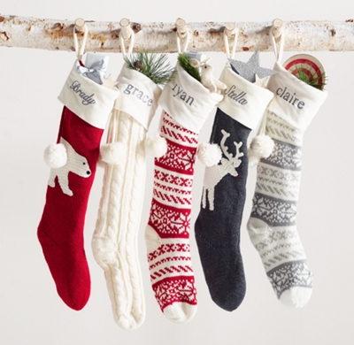 Cable Knit Christmas Stockings.Cable Knit Stocking