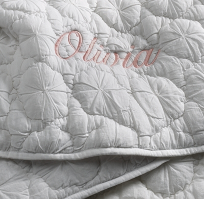 Pinwheel Quilted Voile Toddler Quilt